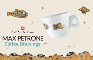 illy(イリー) アートコレクション 2018 マックス・ペトローネ カプチーノカップ&ソーサー